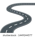 road  highway on white...   Shutterstock .eps vector #1449244577