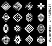 aztec vector elements. set of... | Shutterstock .eps vector #1449258254