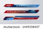 vector of broadcast news lower... | Shutterstock .eps vector #1449258437
