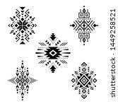 aztec vector elements. set of...   Shutterstock .eps vector #1449258521