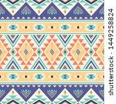 tribal striped seamless pattern....   Shutterstock .eps vector #1449258824