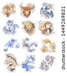 Zodiac Signs Set  Watercolor...