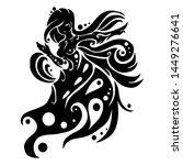 sign symbol of virgo tribal... | Shutterstock .eps vector #1449276641