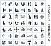 business human resource icons... | Shutterstock .eps vector #144929335