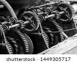 black and white photo of... | Shutterstock . vector #1449305717