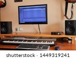 Audio Home Studio Equipped With ...