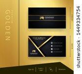 modern black golden business... | Shutterstock .eps vector #1449334754