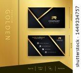 modern black golden business... | Shutterstock .eps vector #1449334757