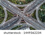 aerial view of highway and... | Shutterstock . vector #1449362234