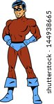 masked superhero with arms... | Shutterstock .eps vector #144938665