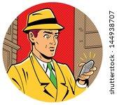 ironic satirical illustration... | Shutterstock .eps vector #144938707