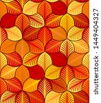 autumn stylized leaves with... | Shutterstock .eps vector #1449404327