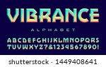 font with geometric lines and a ... | Shutterstock .eps vector #1449408641