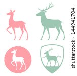 stylized illustration of a doe...   Shutterstock .eps vector #144941704