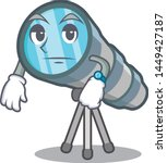 waiting toy telescope in a... | Shutterstock .eps vector #1449427187
