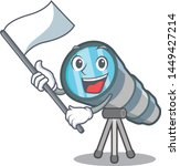 with flag toy telescope in a... | Shutterstock .eps vector #1449427214