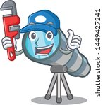 plumber toy telescope in a... | Shutterstock .eps vector #1449427241