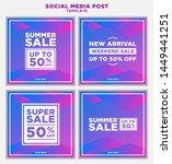 modern and unique social media... | Shutterstock .eps vector #1449441251