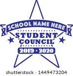 student council tee shirt... | Shutterstock .eps vector #1449473204
