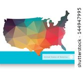 vector map of usa | Shutterstock .eps vector #144947995