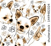 Vector Pattern With Chihuahua...