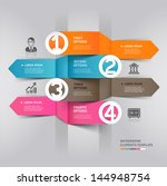abstract arrow infographics... | Shutterstock .eps vector #144948754