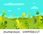 cartoon abstract landscape with ... | Shutterstock .eps vector #1449506117