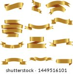 gold ribbon set inisolated... | Shutterstock .eps vector #1449516101