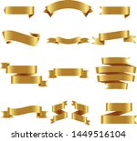 gold ribbon set inisolated... | Shutterstock .eps vector #1449516104