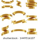 gold ribbon set inisolated... | Shutterstock .eps vector #1449516107