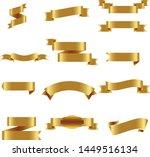 gold ribbon set inisolated... | Shutterstock .eps vector #1449516134