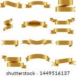 gold ribbon set inisolated... | Shutterstock .eps vector #1449516137