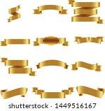 gold ribbon set inisolated... | Shutterstock .eps vector #1449516167