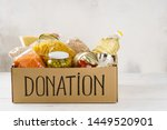 Donation Box With Various Food...