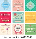 set of retro label for bakery ... | Shutterstock .eps vector #144953341