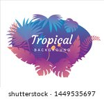 tropical palm leaves  jungle... | Shutterstock .eps vector #1449535697