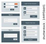 vector set of simple user...