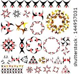 symbols and decorative elements ... | Shutterstock .eps vector #144957031