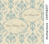 invitation with retro damask... | Shutterstock .eps vector #144958357