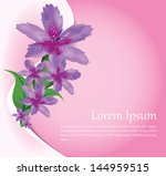 vector floral illustrated... | Shutterstock .eps vector #144959515