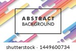 vector abstract color gradient... | Shutterstock .eps vector #1449600734