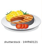 Salmon Steak Prepared