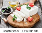 sliced feta cheese with herbs...