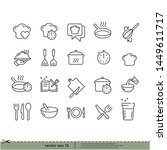 cooking icons. design element.... | Shutterstock .eps vector #1449611717