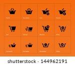 checkout icons on orange...