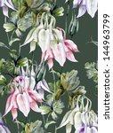 aquilegia seamless pattern   Shutterstock . vector #144963799