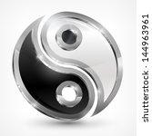 yin yang metallic symbol...   Shutterstock .eps vector #144963961