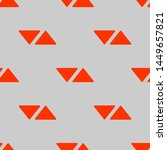seamless two color orange red... | Shutterstock .eps vector #1449657821