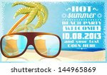 summer beach party invitation...