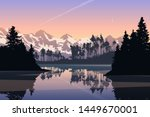 outdoor landscape evening view...   Shutterstock .eps vector #1449670001